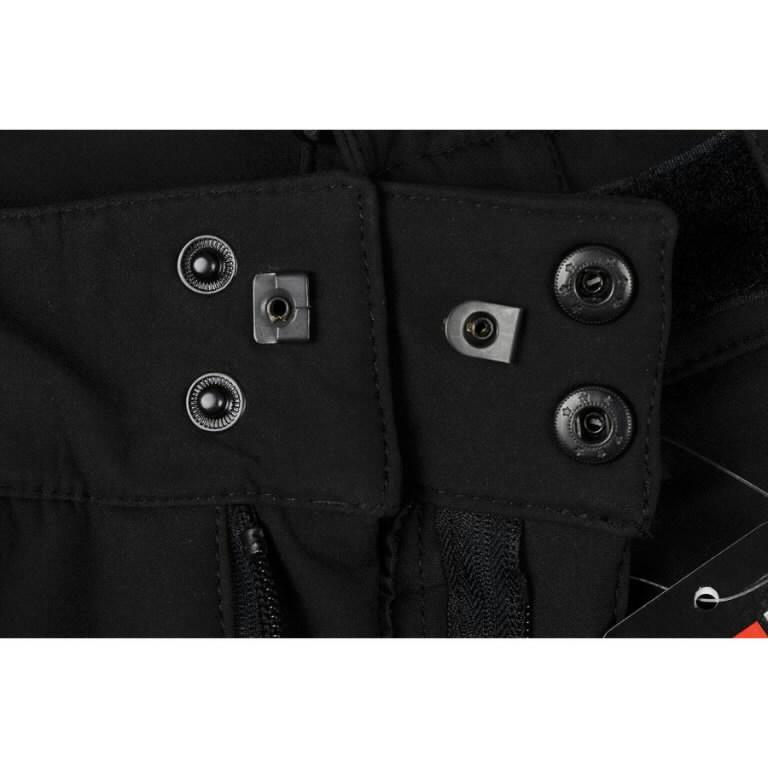 Žieminės softshell kelnės Barnabi, juoda, su  petnešom S, Pesso