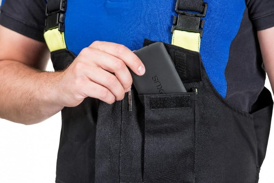Bib-trousers for welders Stokker Special black/yellow XL, Dimex