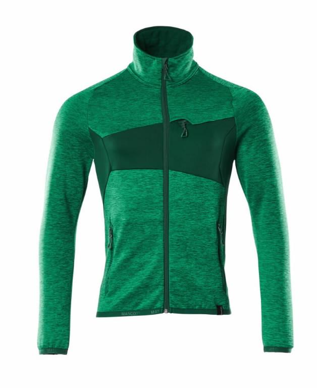 Fliisjakk Accelerate, heleroheline/roheline XS