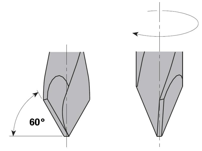 THROUGH HOLE DOWEL DRILL HW D= 4,76X35X70 RH, CMT
