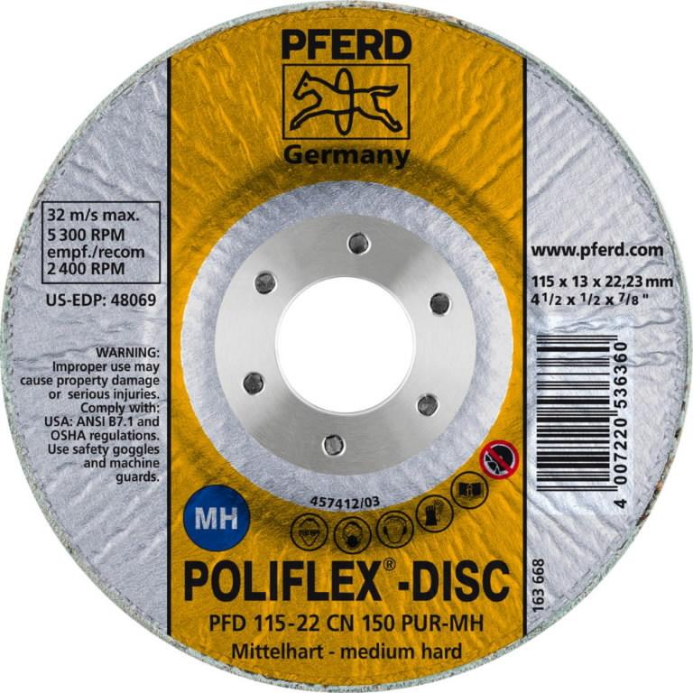 POLIFLEX DISC PFD 115-22 CN 150 PUR-MH, Pferd