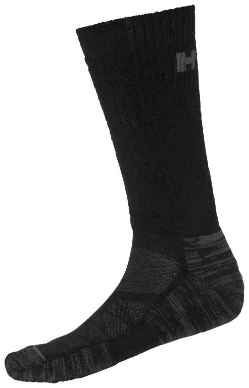Socks Oxford winter, black, 1 pair 43-46, Helly Hansen WorkWear