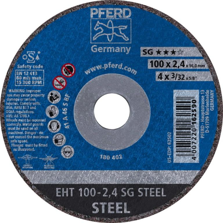 Metallilõikeketas 100x2,4mm A46 S SG EHT, Pferd