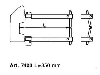 Punktkeevitusekäpad elektroodidega d=12mm, L=350mm, Tecna S.p.A.
