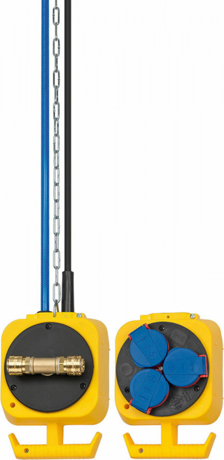En.plokk 5m kaabel, IP 44,  H07RN-F 3G1,5  230 V/16 A, Brennenstuhl