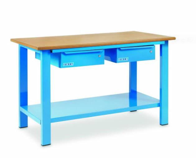 Töölaud, 1500x700xH880mm, 2 sathlit, puidust tasapind, OMCN