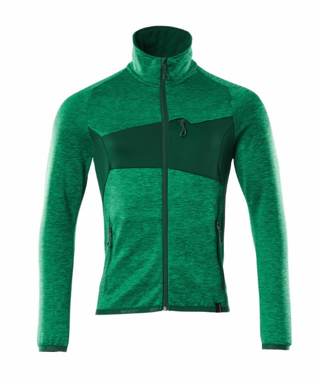 Fliisjakk Accelerate, heleroheline/roheline 4XL, Mascot