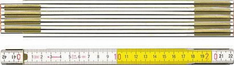 Tollipulk 2m kollane/valge 617, Stabila
