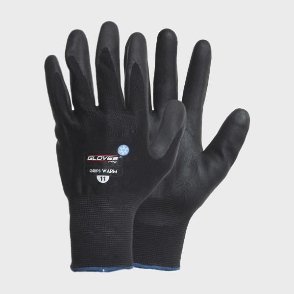 Talvekindad, krobeline nitriil, poolsoe vooder, Grips WARM 10, Gloves Pro®