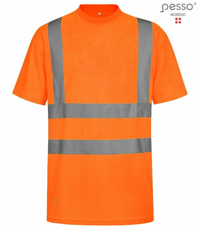 T-särk HVMOR kõrgnähtav CL2, oranz L, Pesso