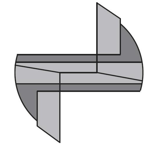 ROUTER CUTTER SOLID HWZ2+1S12X45 D=10X35X90 RH, CMT