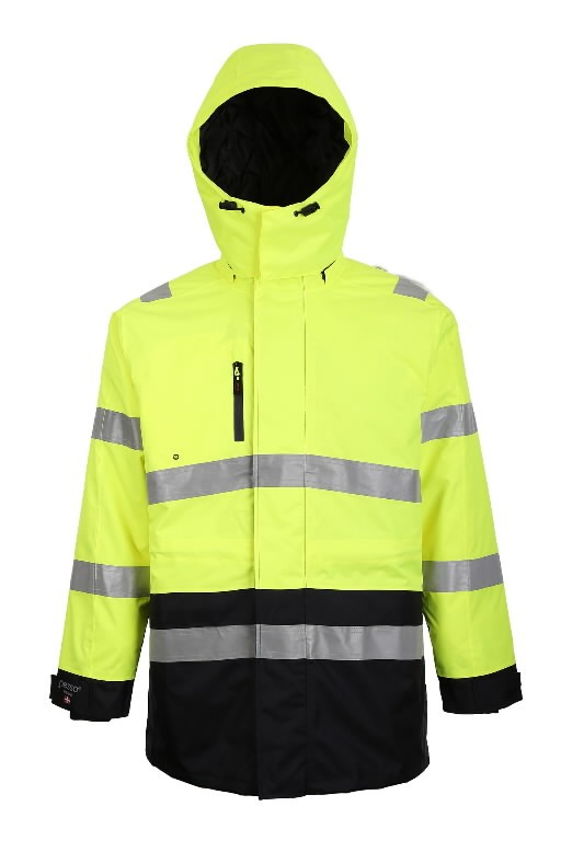 Hi.vis winterjacket Montreal yellow/navy S, Pesso