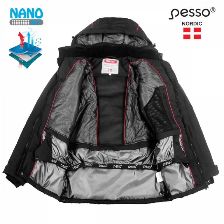 Waterproof Winter Jacket Helsinki, black 2XL, Pesso