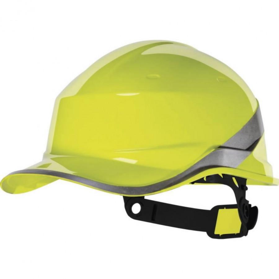 Защитная каска BASEBALL DIAMOND, желтая, хорошо заметная, DELTAPLUS