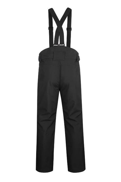Winter softshell trousers Barnabi, black, with brace XL, Pesso