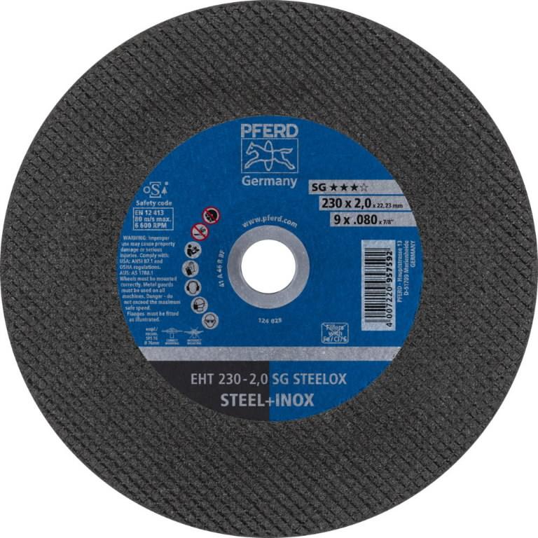 Cut off wheel SG STEELOX 230x2mm, Pferd