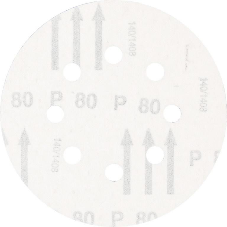 Diskas velcro 125mm P80 8 skylės KSS, Pferd