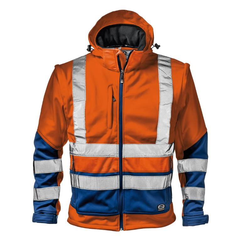 Softshell jakk 2in1 STARMAX, kõrgnähtav CL2, oranz/sinine 2XL, Sir Safety System