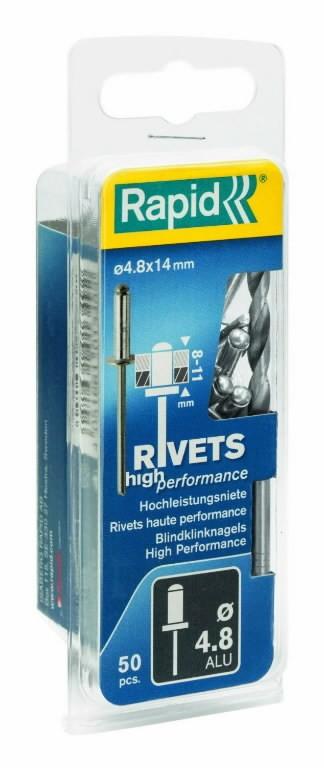 Neet alumiinum Al 4,8x20mm 50tk + Drill C, Rapid