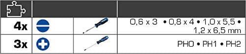 Kruvitsate kmpl, 7-osa, SL,PH, Brilliant Tools