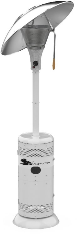 Gas heater for patio SAHARA 15kW white, Hipers