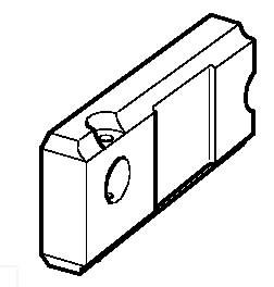 Kronšteinas vikšro tempimo mechanizmo, kairės pusės, JCB