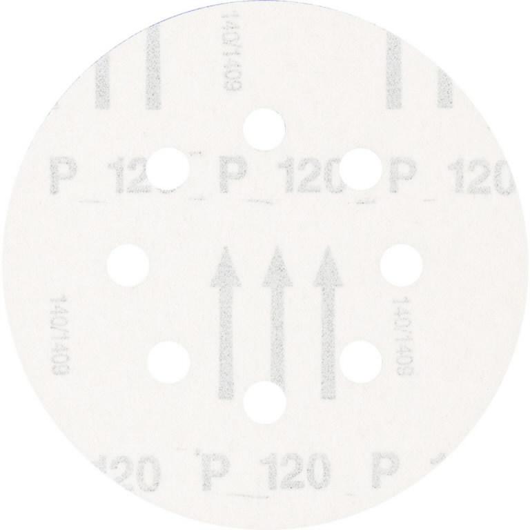 Slīpdisks velcro 125mm P120 8 atveres KSS, Pferd
