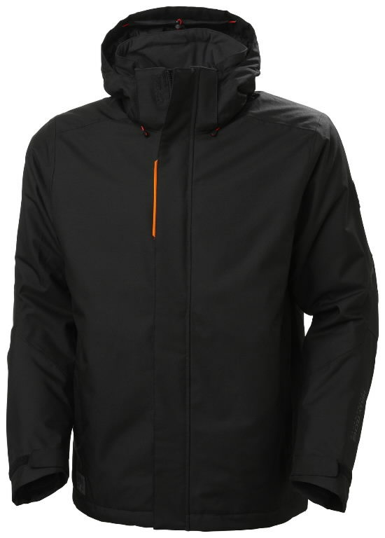 Winter jacket Kensington, hooded, black L, Helly Hansen WorkWear