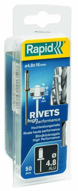 Neet alumiinum Al 4,8x25mm 50tk + Drill C, Rapid
