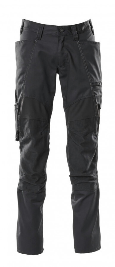 Trousers kneepad pockets ACCELERATE strets,black 76C46, Mascot