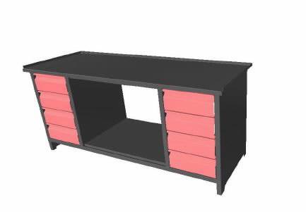 Töölaud 8 sahtliga 2000mm