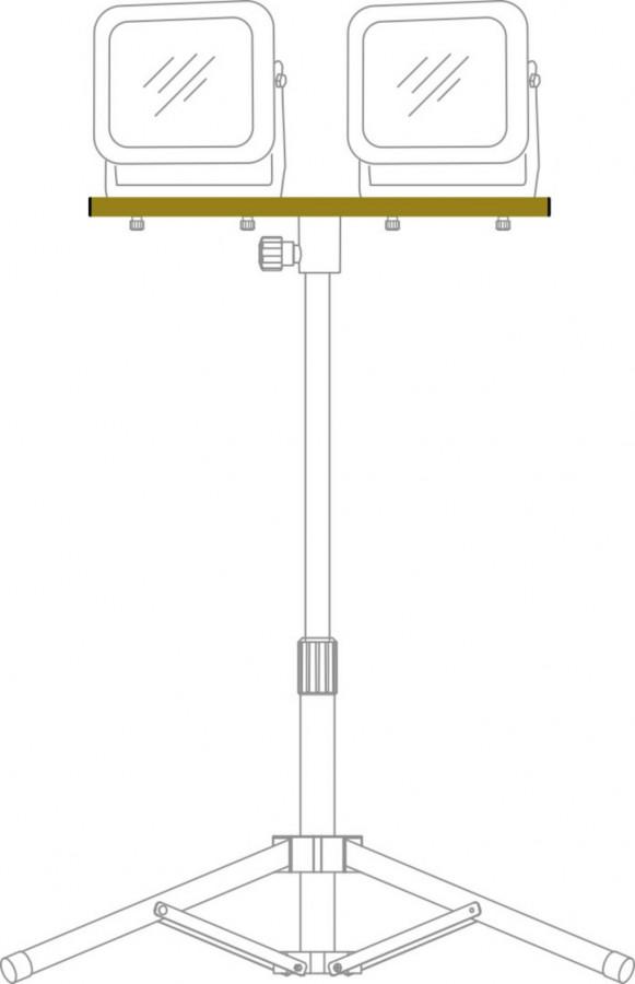 Valgusti kolmjala ühendusplaat CB 70, 2 lambi kinnitamiseks, Brennenstuhl