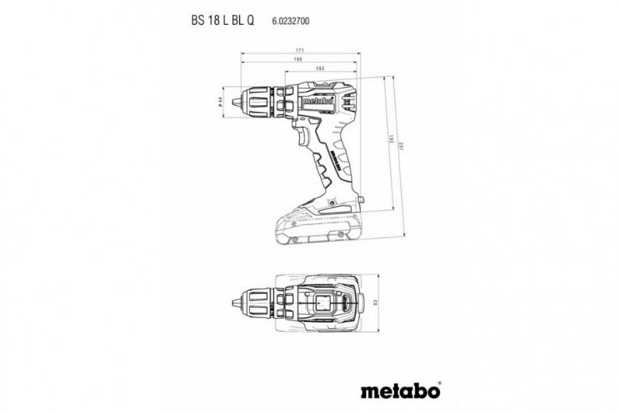 Drill driver BS 18 L BL Q /2x2,0Ah, Metabo