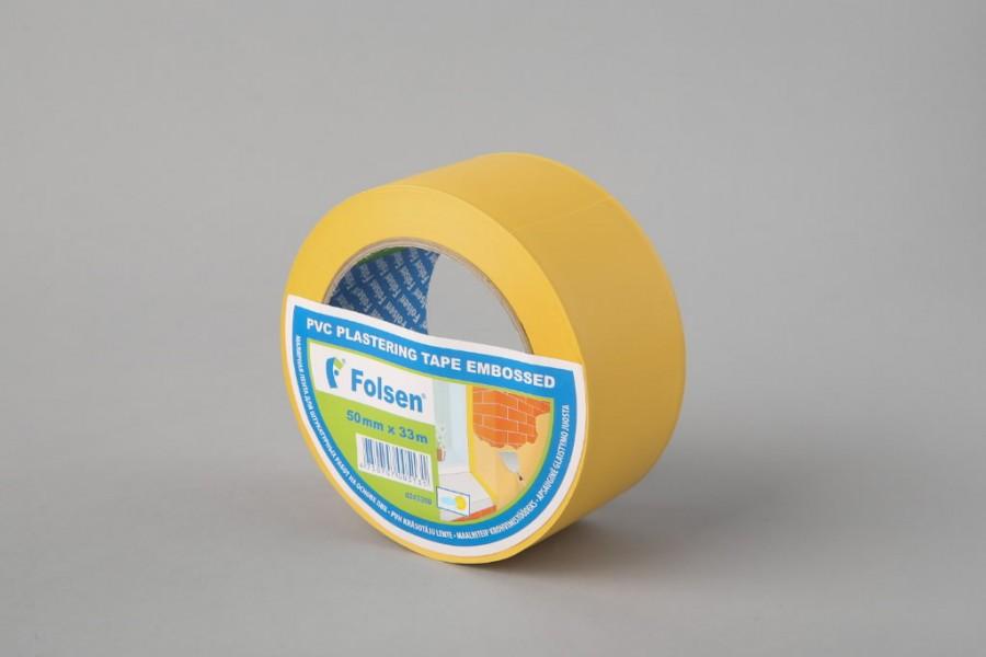 Üldehitusteip PVC, kollane 50mmx33m, Folsen