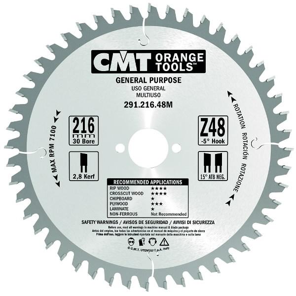 UNIVERSAL SAW BLADE 160X2.2/1.6X30 Z24 ATB, CMT