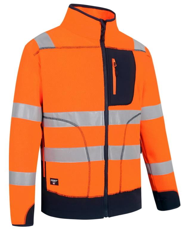 Hi. vis fleece FL02 orange/navy L, Pesso