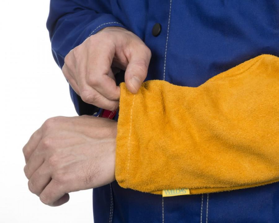 Keevitaja varrukad Golden Brown XL 52 cm, nahk (paar) STD, Weldas