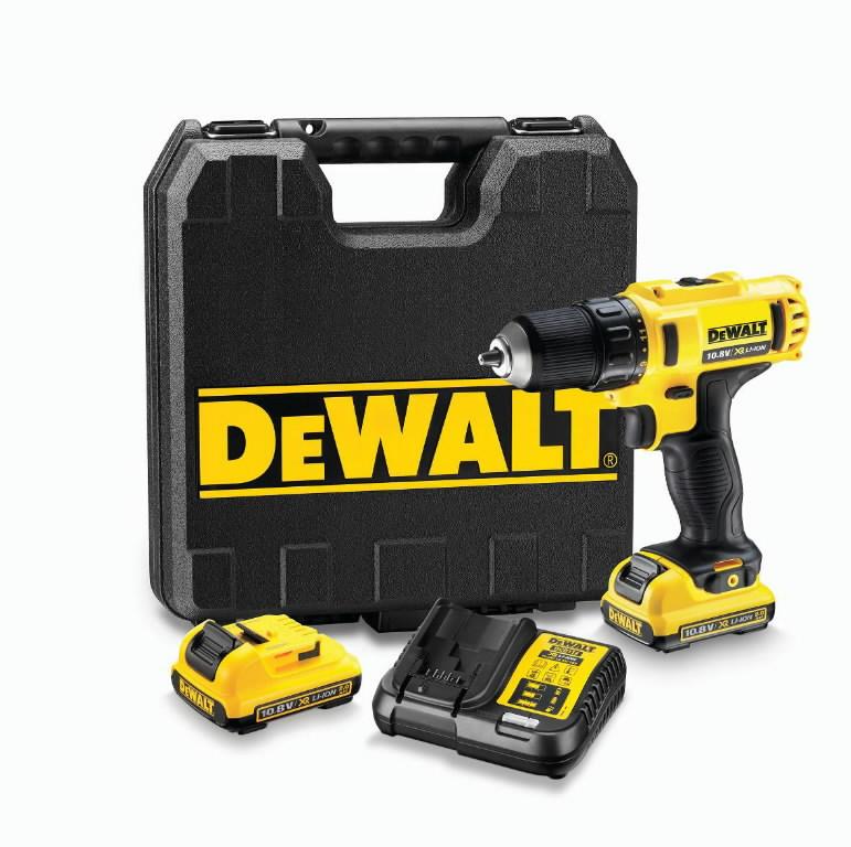 Akutrell DCD710D2, 10,8V / 2,0Ah, DeWalt