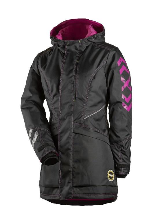 Winter jacket parka 6079 women, black/pink S, Dimex