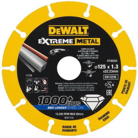 Teemant lõikeketas 125x22,23x1,3 mm, metallile, DeWalt
