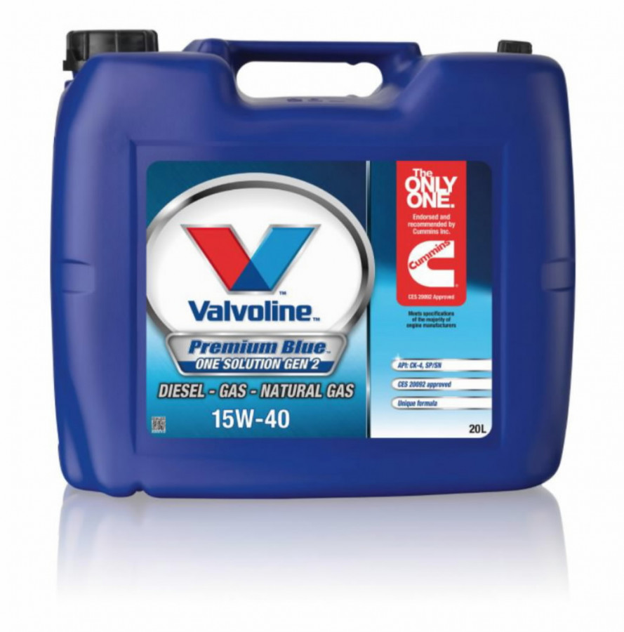 Mootoriõli PREMIUM BLUE ONE SOL GEN2 15W40 20L, Valvoline