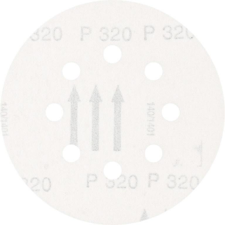 Diskas velcro 125mm P320 8 skylės KSS, Pferd