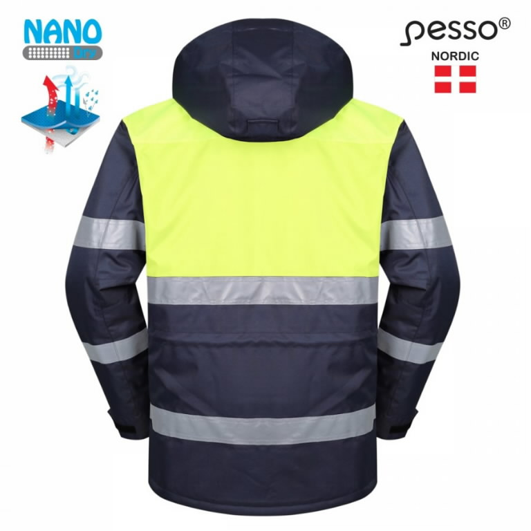 Žieminė striukė HANA, t.mėlyna / geltona 3XL, Pesso