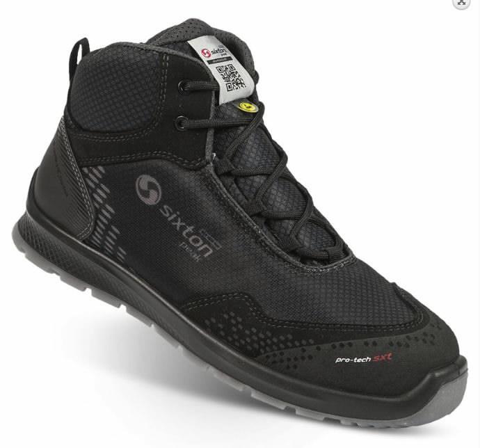 Safety shoes Skipper Auckland High, black S3 ESD SRC 47, Sixton Peak