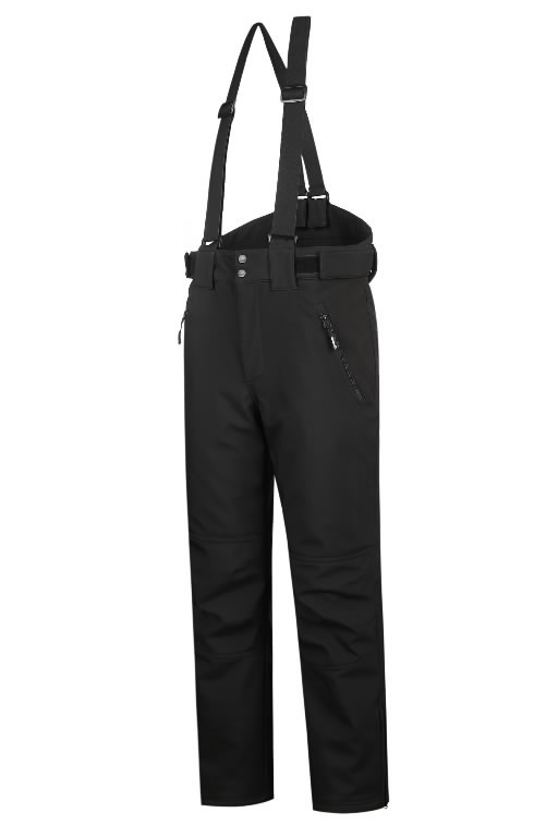 Winter softshell trousers Barnabi, black, with brace 2XL, Pesso