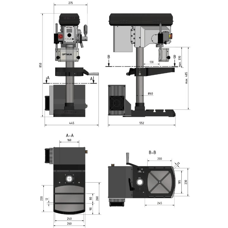 Lauapuurpink OPTIdrill DH 18V 230V