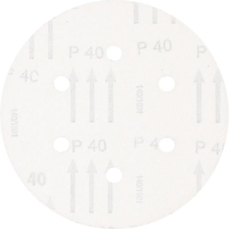 Diskas velcro KSS 6 skylės 150mm P40, Pferd