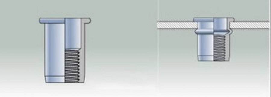 Blind rivet nut M8 PL, Sariv
