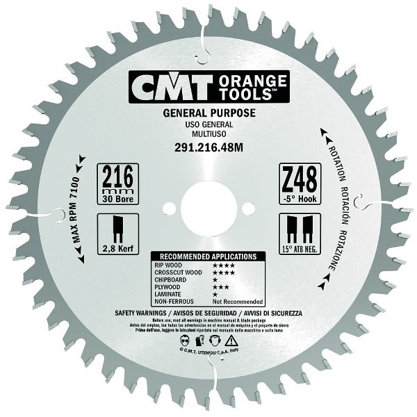 SAW BLADE FOR PORTABLE 184X2.6X30 Z=24, CMT