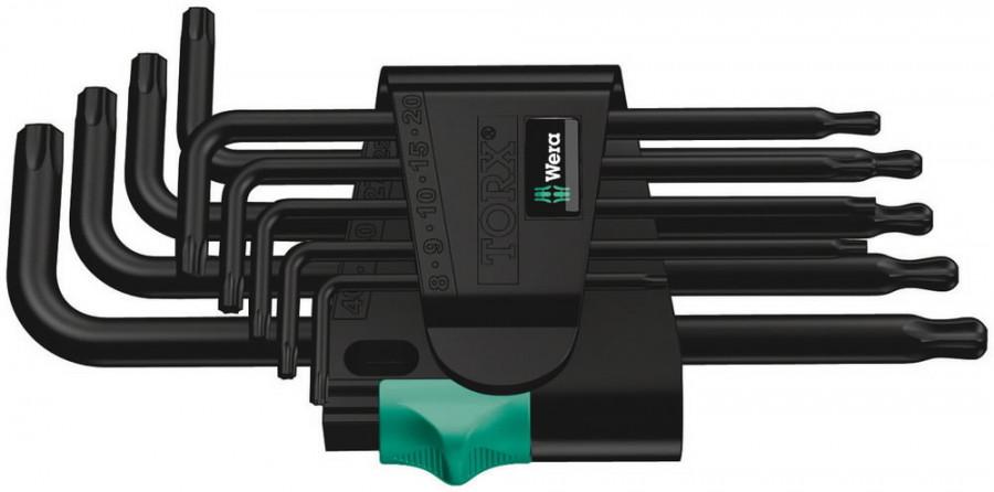 L-Torx kmpl TX 9-osa 967PKL/9, palliga TX8-TX40, Wera